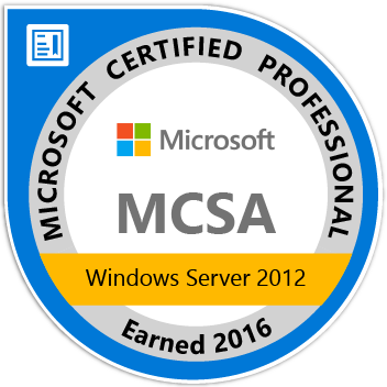 MCSA Windows Server2012