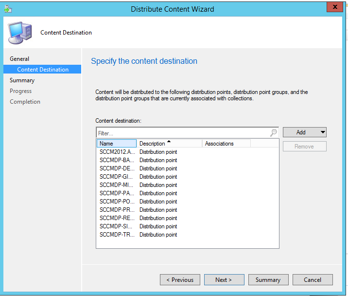 distribution point sccm