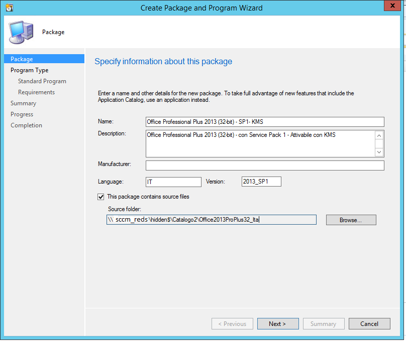 sccm packages 1